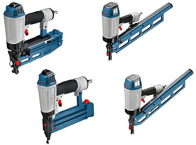 Kompaktowe gwoździarki pneumatyczne. Fot. Bosch
