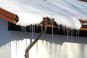 System rynnowy Plannja Siba sprawdza się bez zarzutu nawet zimą. Fot. Plannja