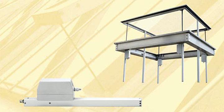 Przykład zastosowania napędów ZA w szklanym dachu, fot. D+H