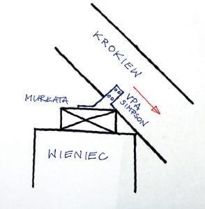 Rys. 2. schemat połączenia krokiew murłata z wykorzystaniem obniżonej murłaty i złącza