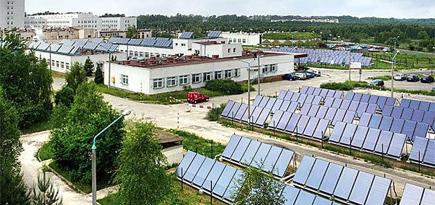 Instalacja solarna - wojewódzki Szpital Specjalistyczny im. Najświętszej Maryi Panny w Częstochowie. Fot. Viessmann