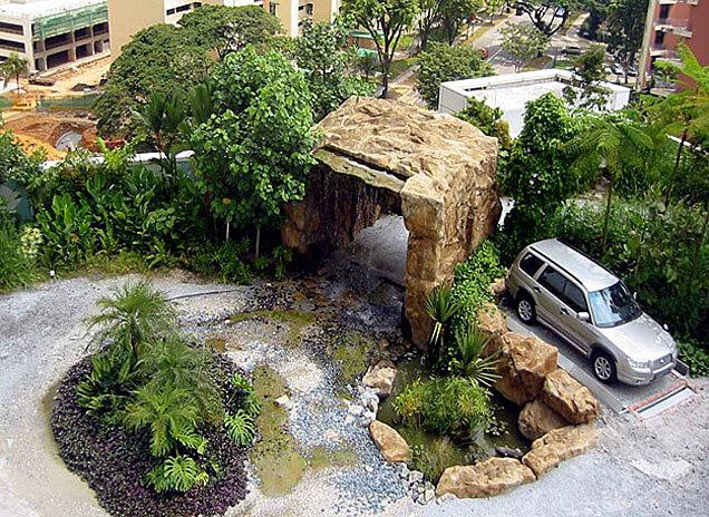 Fot. Dach budynku siedziby Subaru w Singapurze