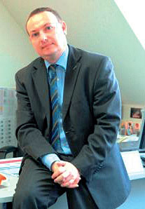 Grzegorz Barycki, dyrektor marketingu firmy Monier, producenta dachówek Braas