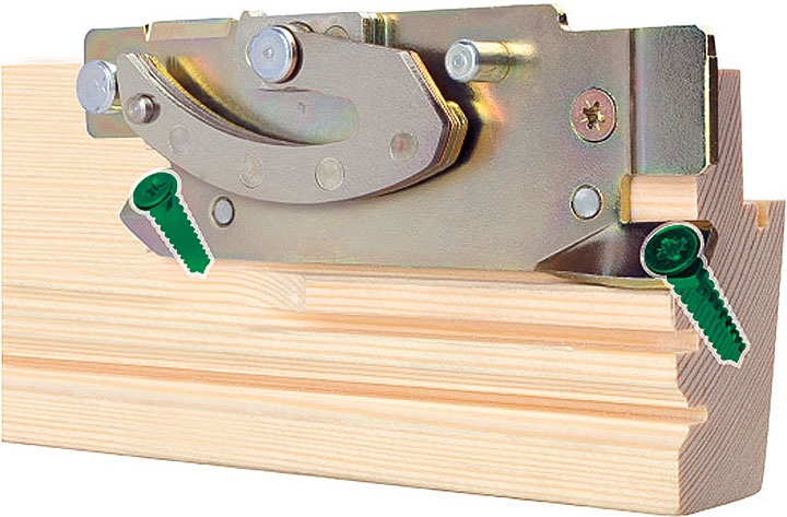 Fot. 7. Wzmocnienie topSafe w oknie FAKRO.
