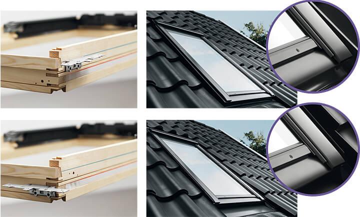 Montaż okna VELUX Nowej Generacji głębiej w dachu