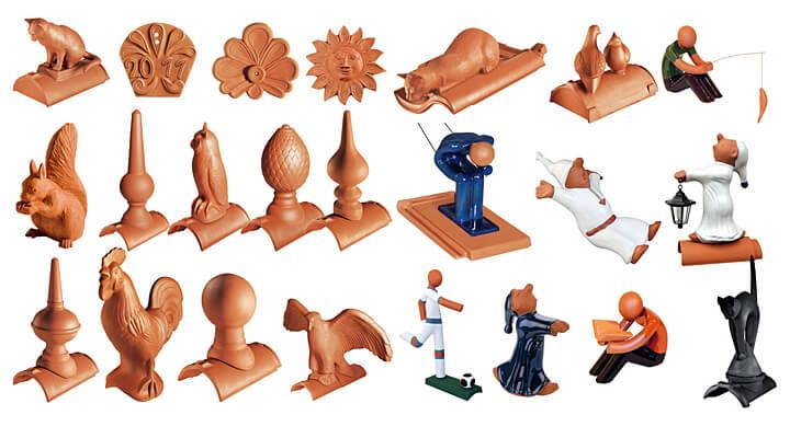 MANUFAKTUR - elementy ozdobne kalenicy i ceramiczne akcesoria dachowe oferowane przez firmę CREATON