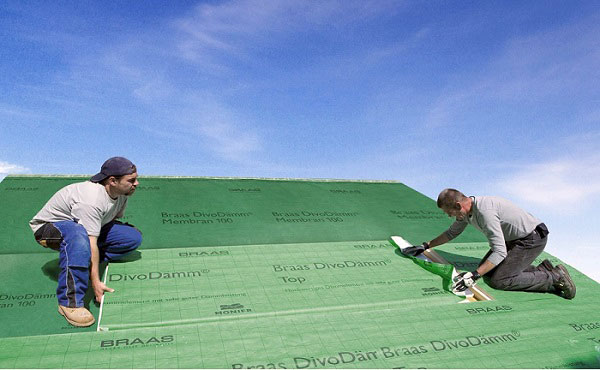 Montaż DivoDamm na dachu