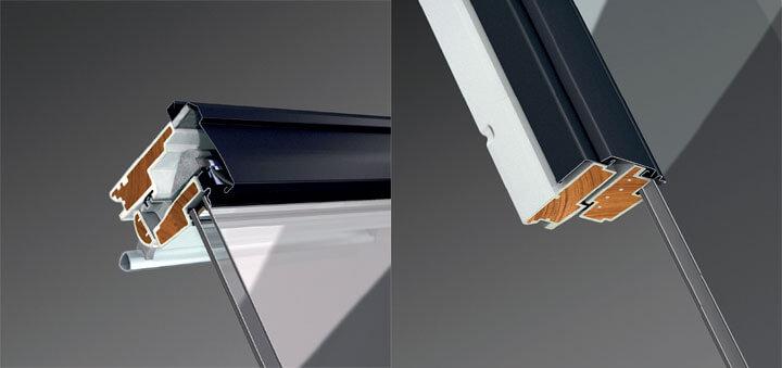 Fot. 3. Okna drewniano-poliuretanowe Nowej Generacji z zastosowaniem drewna modyfikowanego termicznie.