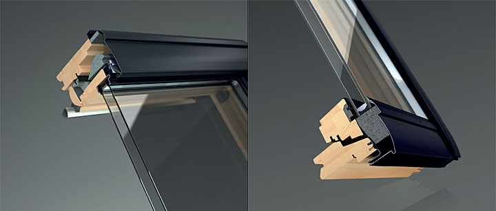 Fot. 4. Profil okna drewnianego Nowej Generacjiz wbudowanym szarym EPS.
