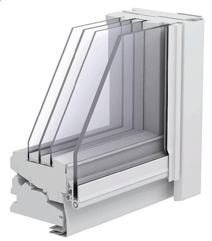 Fot. 4. Okno z oszkleniem trójkomorowym.