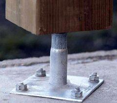 Wsporniki słupa firmy Simpson Strong-Tie- gwarancja bezpiecznej konstrukcji