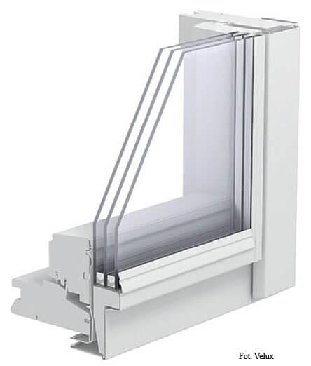 Fot. 2. Okno z oszkleniem dwukomorowym. energooszczędne okna dachowe