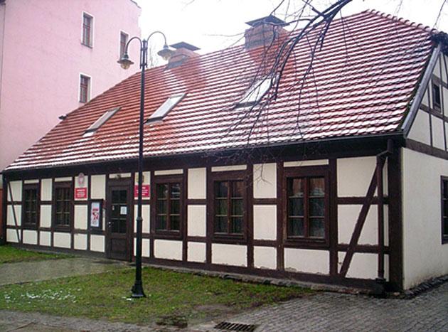 Budynek wykonany w technice muru pruskiego