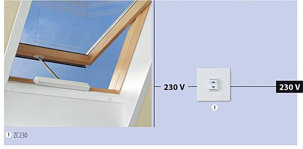 Sterowanie oknem 230 V