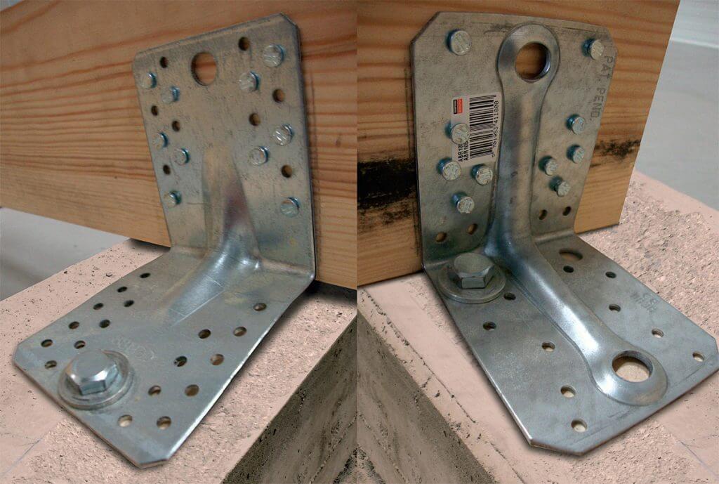 Fot. 7 Wpływ pozycji kotwy na nośność połączenia drewno-beton. Błędy w montażu złączy ciesielskich