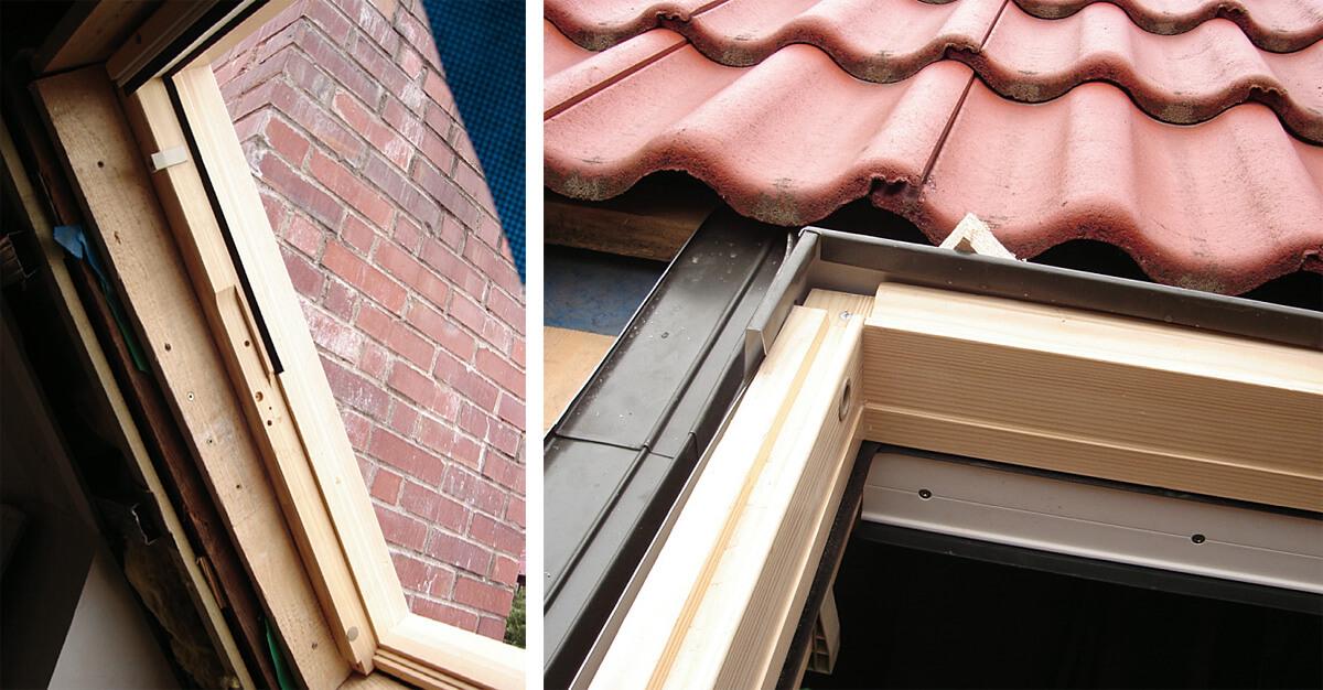 Fot. 2 Podczas montażu okna ościeżnica została nieprawidłowo osadzona (wewnętrzna strona ościeżnicyznajduje się na dachu).