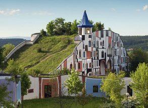 Zielone dachy nowoczesnych budynków