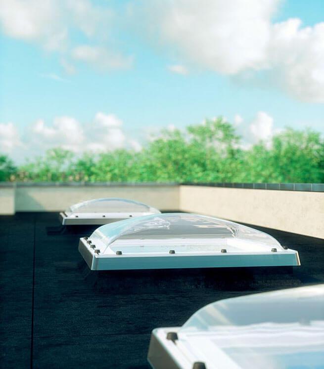 Fot.6 Okno dachowe, z kopułą - typ C.