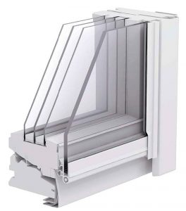 Fot. 9. Okno z oszkleniem trójkomorowym.