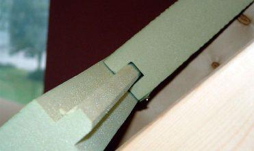 Fot. 1. Stosowana nakrokwiowo płyta POWERROOF firmy Recticel gwarantująca uzyskanie w poprawnysposób efektu opisanego w artykule.