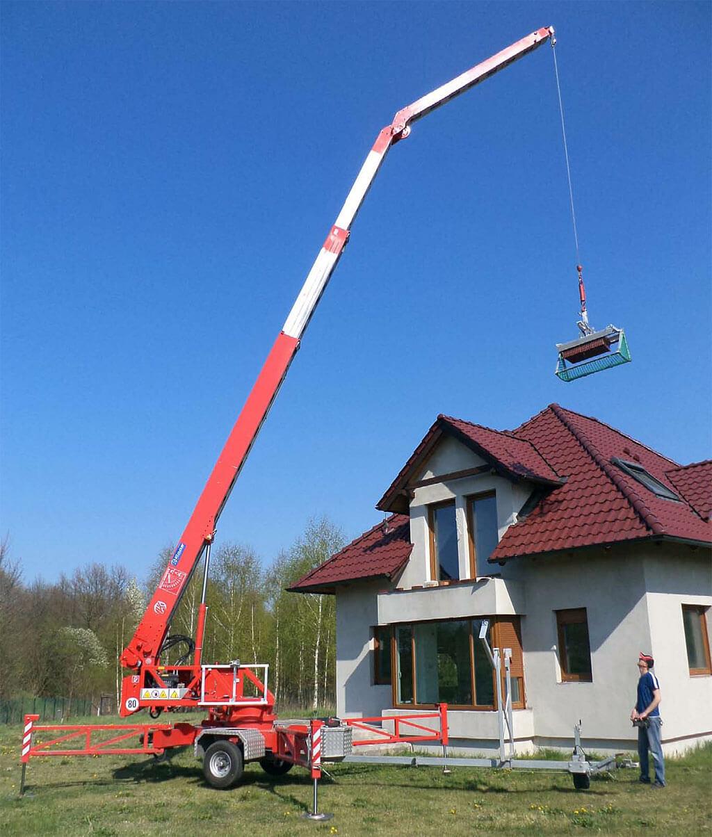 Bardzo dobryFantastyczny Dźwig dekarski Klaas K17/24 TSR-Light za 2600 PLN - Dekarz i Cieśla MU54