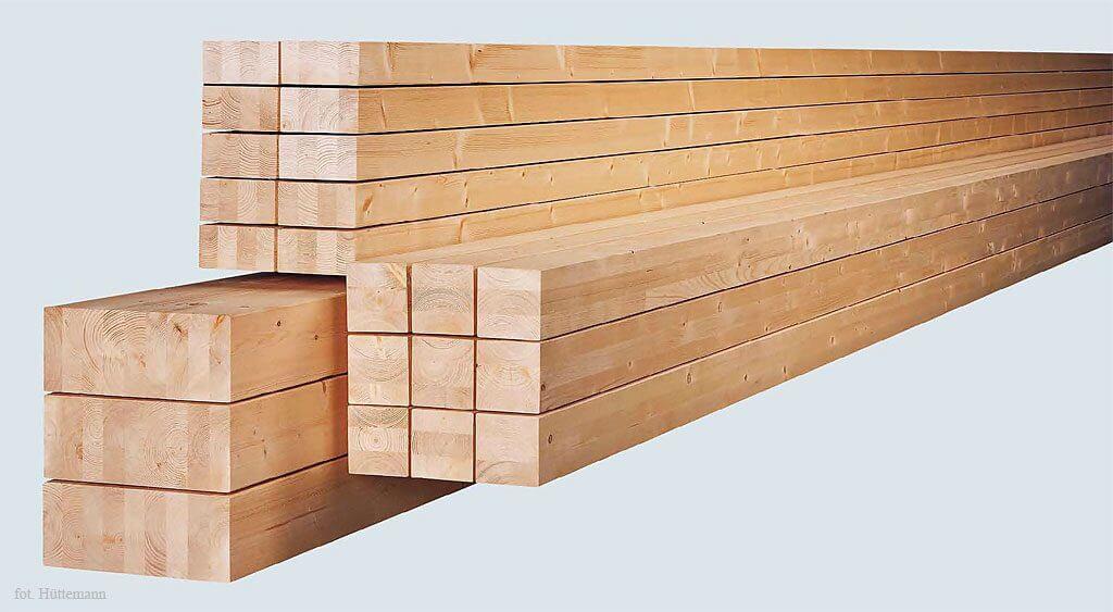 Typowe pakiety belek z drewna klejonego