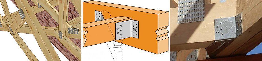 Rys. 7. Połączenia pojedyncze pod kątem 45° z użyciem wieszaka ET260.
