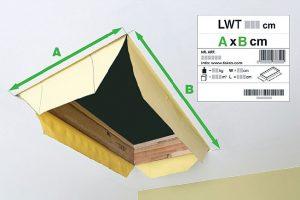 Fot. 2. Wymiary otworu, w którym będą montowane schody muszą odpowiadać ich rozmiarom handlowym.