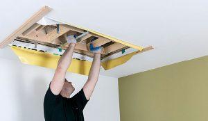 Fot. 6. Na przykręconych łatach należy umieścić schody strychowe.
