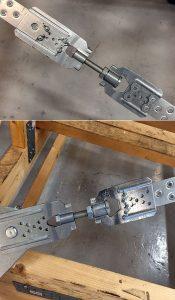 Fot. 4. Złączka napinająca FMBS w połączeniu taśma-taśma i taśma-blacha węzłowa.