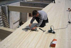 Fot. 4. Łatwy, czysty i suchy montaż elementów stropowych.