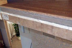Fot. 5. Przekrój wielowarstwowego stropu wykonywanego najczęściej w domach piętrowych.