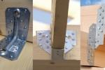 połączeFot. 1 Kątownik, wieszak belki i złącze płatwiowo-krokwiowe.