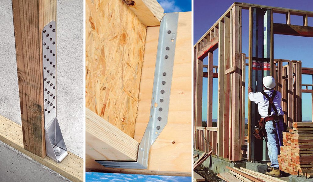 Fot. 7. Typowe złącza do drewnianych budynków o konstrukcji szkieletowej.