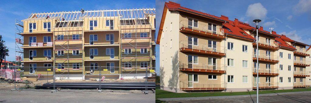 Fot. 2. Kilkukondygnacyjne budynki mieszkalne – wykonawca Trak-bud.