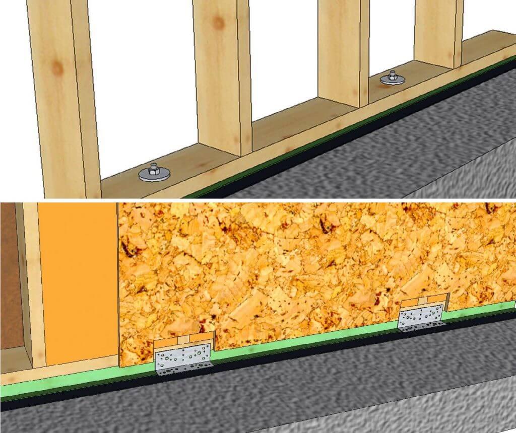 Rys. 2. Kotwienie ściany przeciw przesunięciu budynku (wykonano w Dietrich's 3D CAD/CAM).