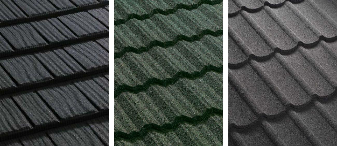 Od lewej: Corona® Wygląda niemal identycznie jak gont drewniany. Podhalańscy architekci twierdzą, że obecnie jest to najkorzystniejsze pokrycie, które zastępuje tradycyjny gont. Cena dachówki Corona® jest bardzo korzystna, tym bardziej, że trwałość dachu pokrytego z tym profilem jest zbliżona do trwałości dachówki ceramicznej. W odniesieniu do gontu drewnianego nie wymaga kosztowej impregnacji co kilka lat. Jest to bardzo istotne zwłaszcza wśród właścicieli domów, które są stylizowane na staropolskie, budowane na terenie całego kraju. Classic® Zapewnia tradycyjny kształt dachówki ceramicznej – marsylki. Warto podkreślić przy tym niewielką masę pokrycia, co nie wymaga dużych przekrojów i gęstych rozstawów krokwi, tak jak jest to potrzebne w przypadku ciężkich pokryć ceramicznych lub cementowych. W efekcie zyskuje się szereg oszczędności zarówno na materiale, jak i w wydatkach. Gerard Classic® bardzo dobrze sprawdza się podczas prac związanych z nadbudową budynków lub wymiany zniszczonego, ciężkiego pokrycia. Diamant® Gerard Diamant to innowacyjna dachówka zainspirowana przez najtwardszy i jeden z najtrwalszych materiałów znanych człowiekowi. Warto podkreślić klasyczny wygląd w bogatej linii kolorów oraz wytrzymałość na działanie nawet najbardziej skrajnych warunki atmosferyczne. Gerard Diamant® to nie tylko trwałość i ochrona budynku ale również większa o 10% powierzchnia krycia dachówki, zapewniająca oszczędności dzięki niższym kosztom montażu.