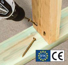 Fot. 1. Wkręty ciesielskie objęte Europejską Oceną Techniczną (ETA).