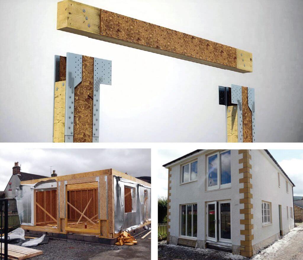 Fot. 3. Strong-portal™ – drewniana rama usztywniająca i jej zastosowanie.