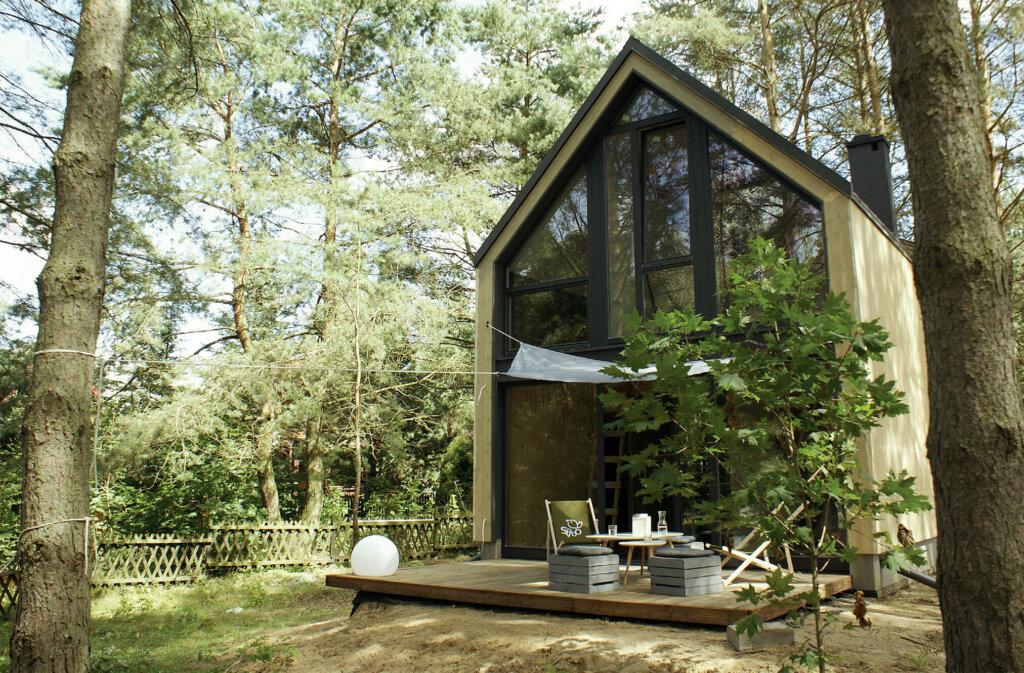 Nowoczesna stodoła z drewna klejonego HBE