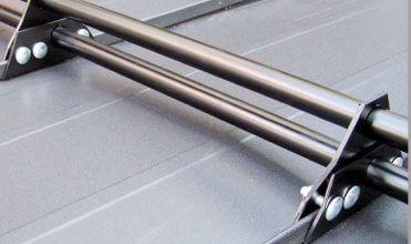 Bariera przeciwśniegowa aluminiowa dwururowa.