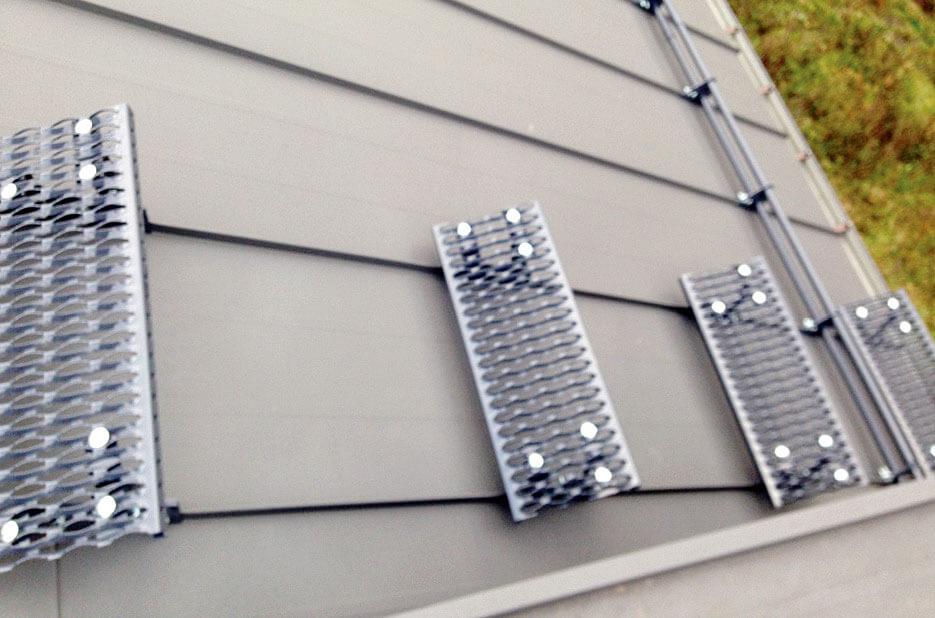 Trepy kominiarskie aluminiowe 65 cm