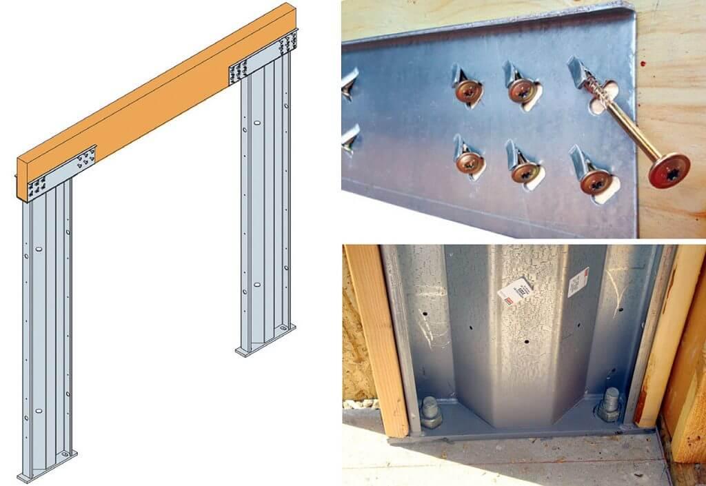 Zdj. 5. Steel Strong-Portal – produkt usztywniający konstrukcję szkieletową.