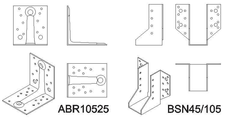 Rys. 1. Przykładowe rysunki z nowej biblioteki plików dwg (AutoCAD).