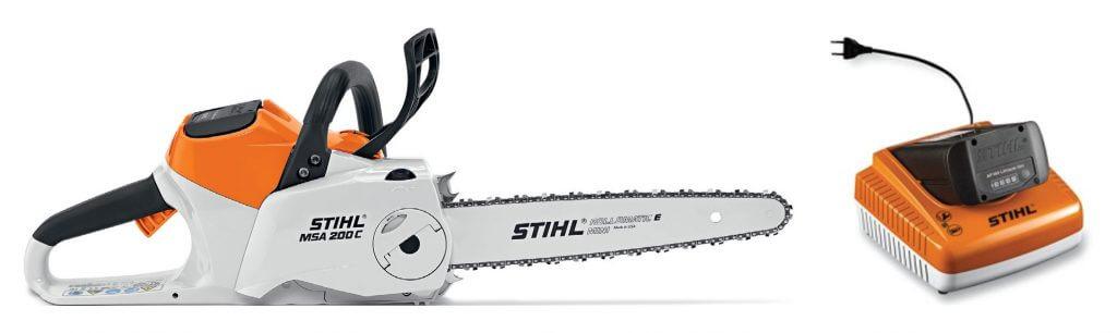System akumulatorowy STIHL PRO i pilarka akumulatorowa STIHL MSA 200 C-BQ