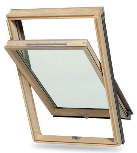 Dakea Ultima - nowoczesne okno dachowe o drewnianej konstrukcji i centralnej osi obrotu