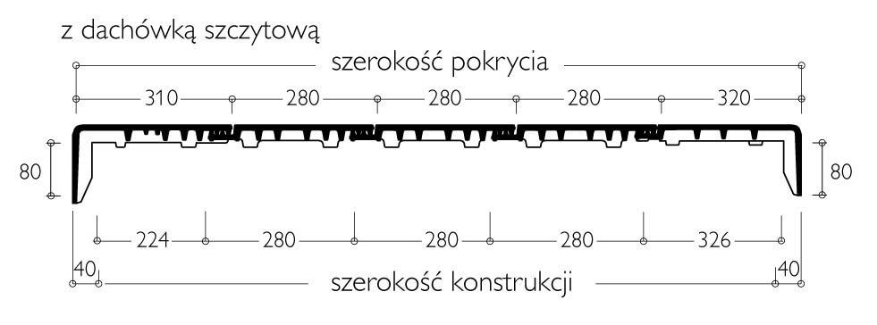 Płaska dachówka Braas Signy - rozmierzanie szerokości krycia - dachówkę Signy zaleca się układać z przesunięciem zamków w kolejnych rzędach