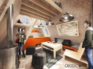 Projekt domku letniskowego typu BRDA