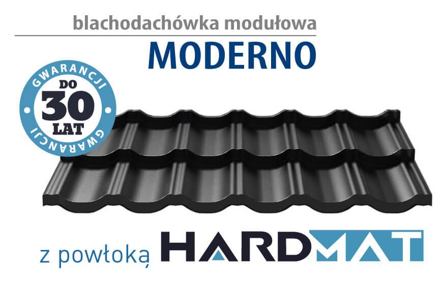 Hanbud Moderno – blachodachówka modułowa z powłoką HARDMAT