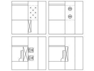 Rys. 5 Sposoby łączenia stropu ze ścianą balonową